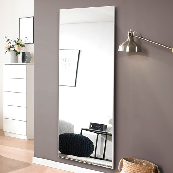미소아이 심플 대형 와이드 벽걸이 전신거울, 화이트