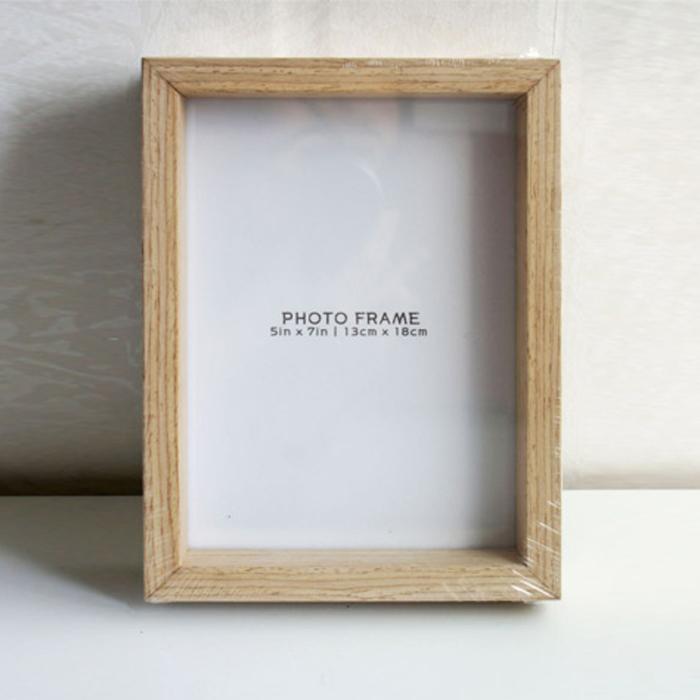 미소아이 천연무늬목 액자, 내추럴(오크)
