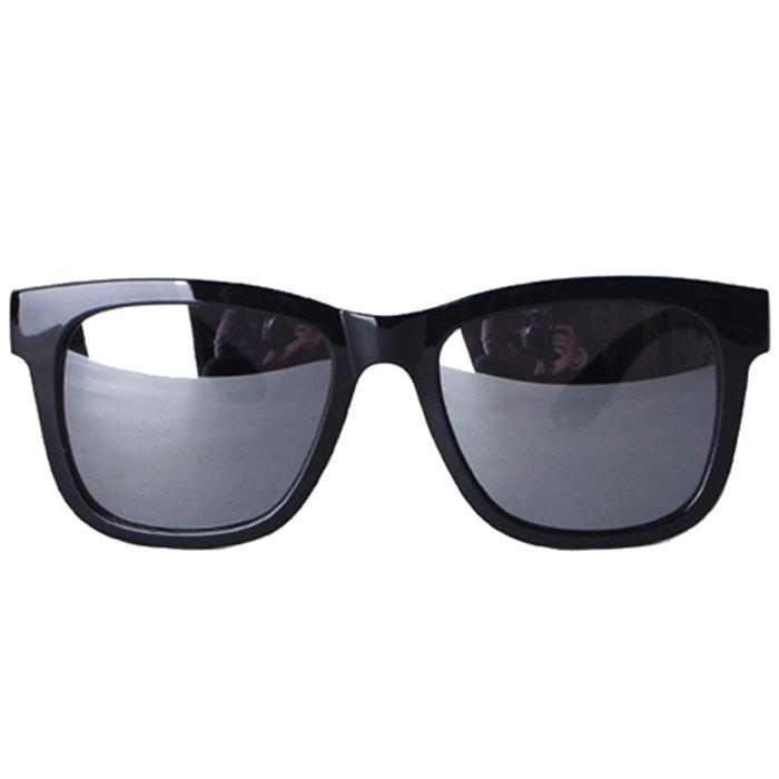 오클렌즈 미러 선글라스 ST304, 프레임(유광블랙 + 유광블랙), 미러렌즈(스모그미러)
