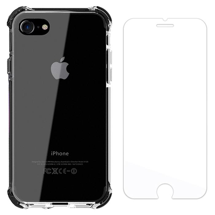 벤토사 슈퍼 임팩트 범퍼 휴대폰 케이스 + 9H 강화유리필름 세트
