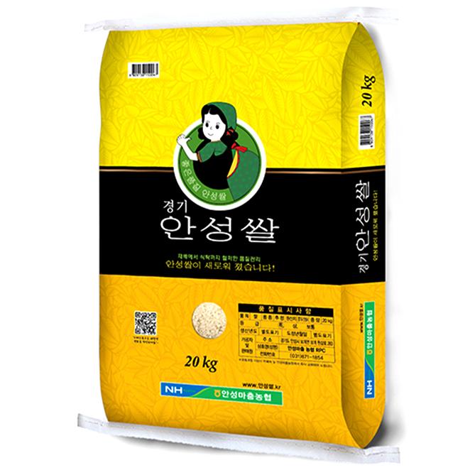 안성마춤 농협 경기 2020년 안성쌀, 20kg, 1개