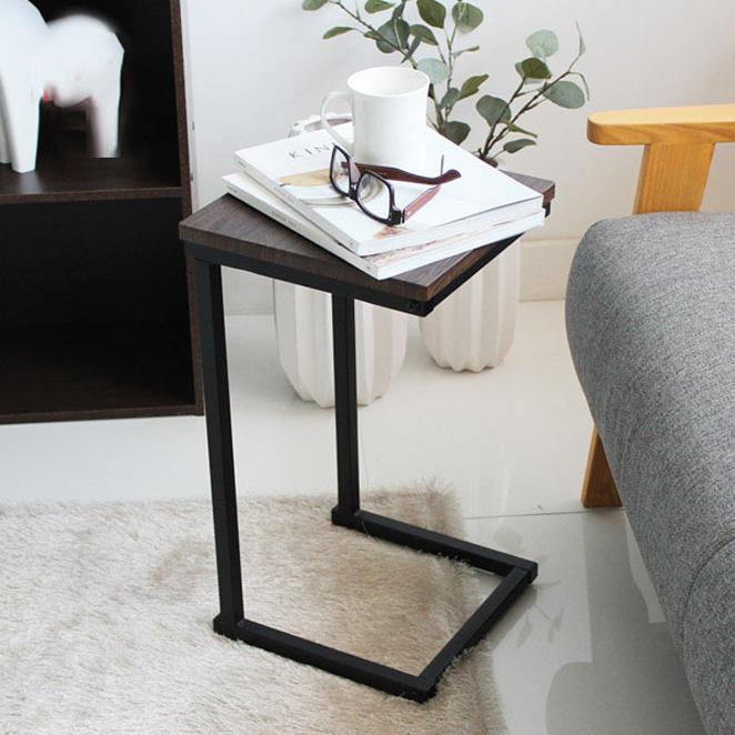 아이리스 사이드 테이블 SDT-29, 브라운오크 + 블랙