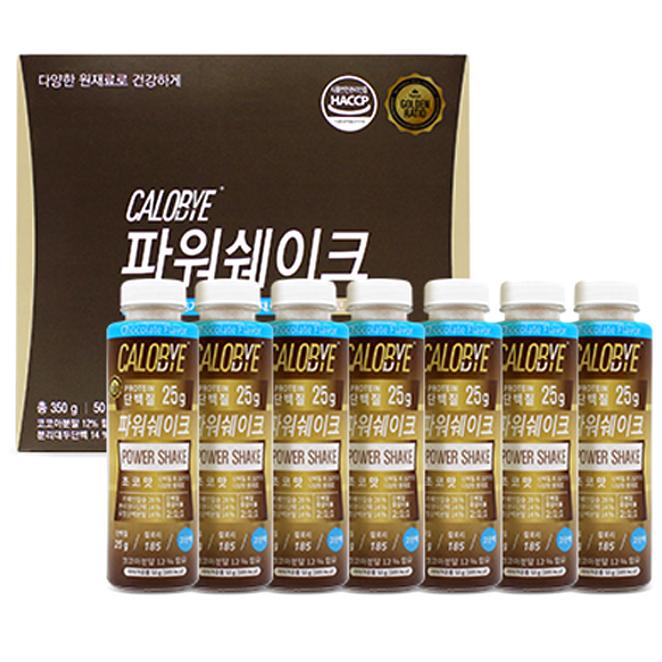 칼로바이 파워쉐이크 단백질 헬스보충제 프로틴 초코맛, 50g, 7개입
