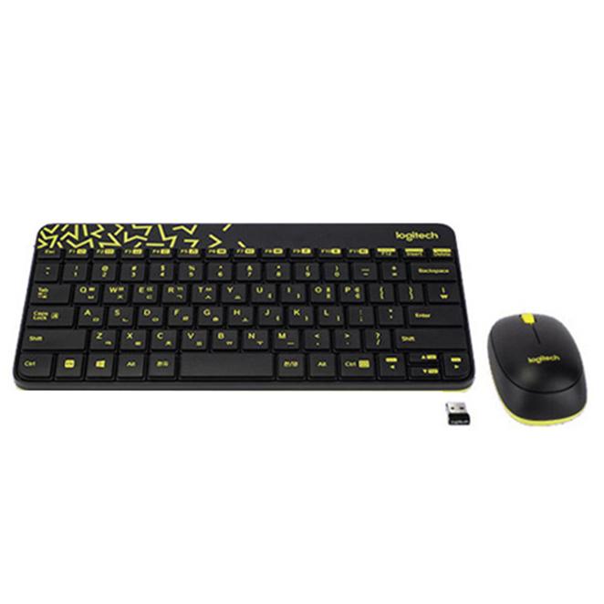 로지텍 NANO 무선 콤보 키보드 마우스 세트, MK240 NANO, 블랙