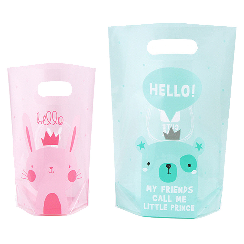 봄91 헬로 래빗 기프트 비닐 백 핑크 20p + 민트 20p, 1세트