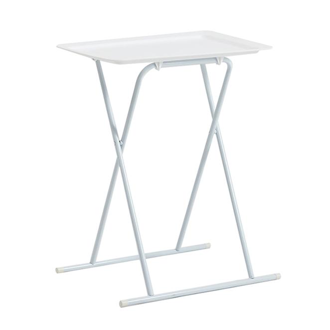 하우스레시피 다용도 접이식 사이드 테이블, 화이트