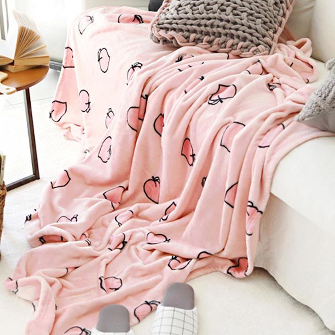 바자르 모모찡 극세사 담요 겸 이불, 혼합 색상