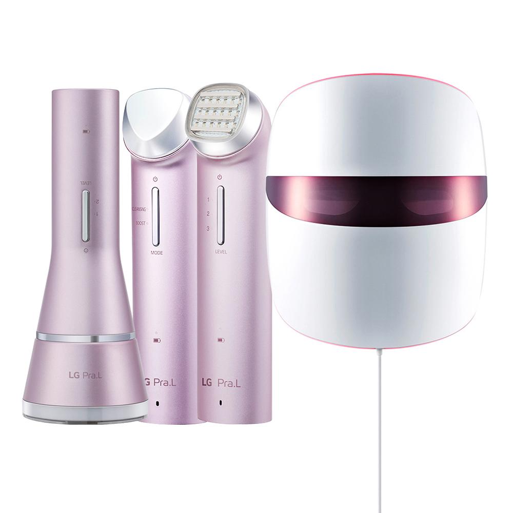 LG전자 Pra L 클렌저 BCJ1 + 갈바닉 이온 부스터 BBJ1 + 토탈 리프트 업 케어 BLJ1 + 더마 LED 마스크 BWJ1, 4종, 1세트