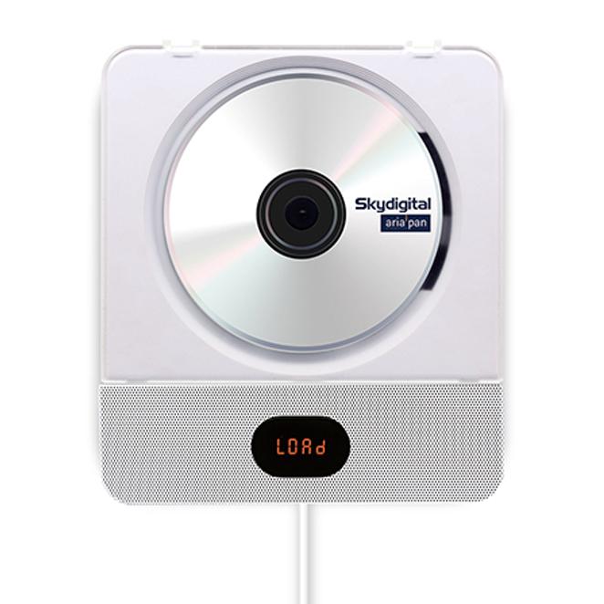 스카이디지탈 아리아판 벽걸이 블루투스 CD 플레이어 2 + 스탠드 거치대, 단일 상품, 화이트