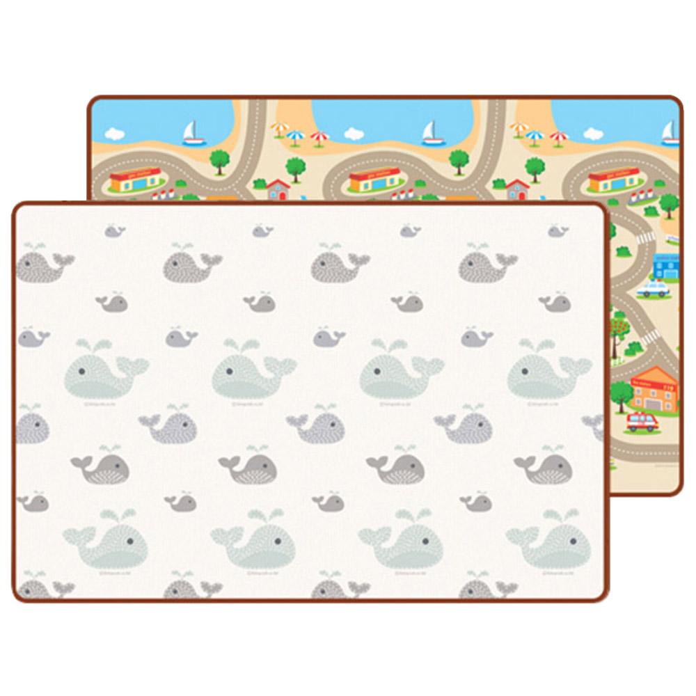리빙코디 프라임 양면 놀이방매트 2p, 고래꿈 + 해피타운