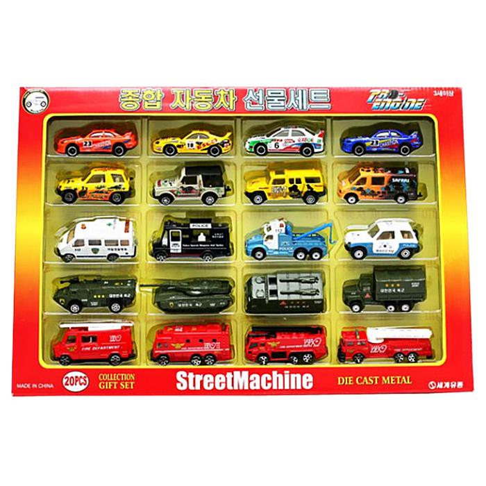 파이오니어 세계유통 종합 자동차 20종 선물세트, 혼합 색상