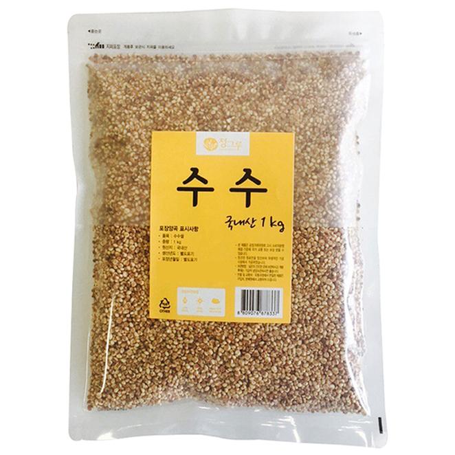 청그루 국산 수수, 1kg, 1개