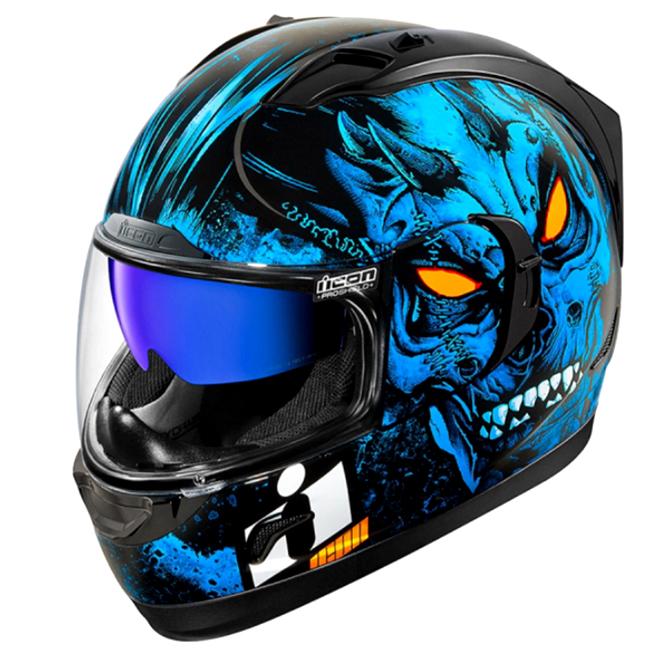 아이콘 얼라이언스 GT 호러 헬멧, 블루