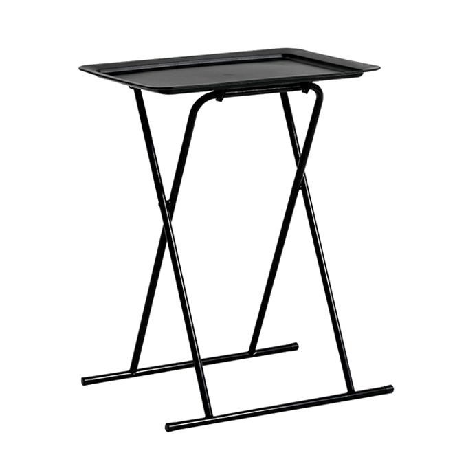 하우스레시피 다용도 접이식 사이드 테이블, 블랙