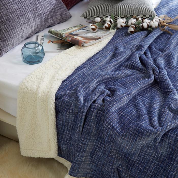 바니루이스 로메이 극세사 양털 담요, 블루