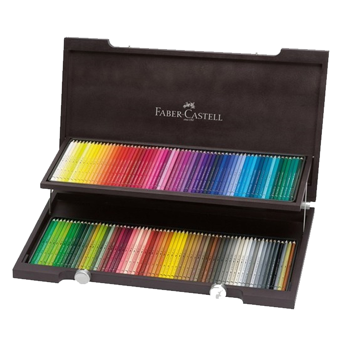 파버카스텔 전문 수채 색연필 우드케이스 세트, 120색