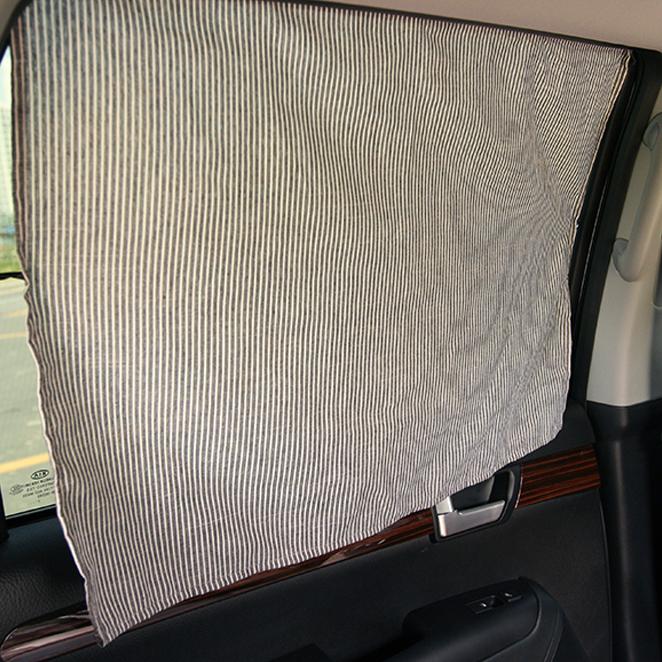 우리앤데코 데코라인 차량용 햇빛가리개 자석, 그레이 스트라이프, 1개