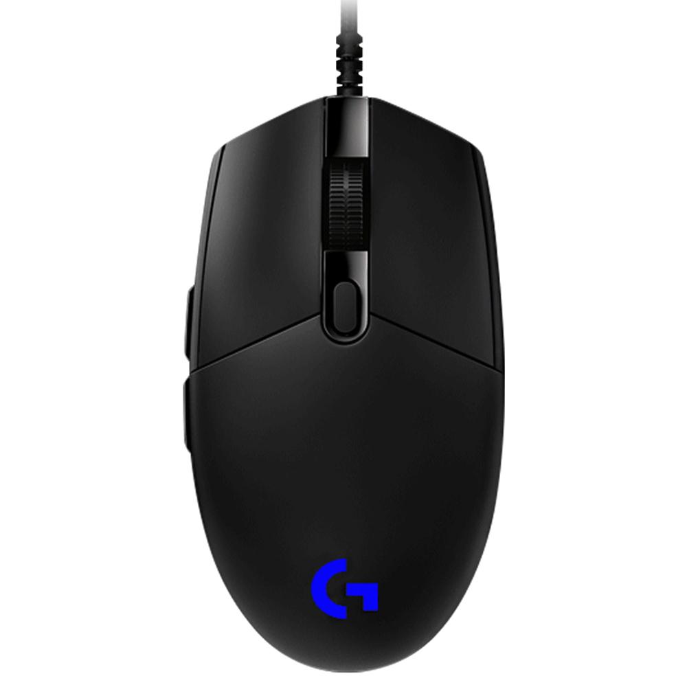 로지텍 G PRO HERO 게이밍 유선 마우스 M-U0052, 단일 색상