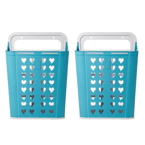 올맘 입큰 분리수거함 + 분리수거 전용 스티커, 블루, 2개입