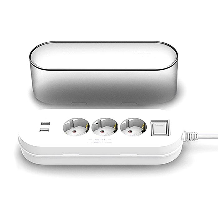 네모탭 정리함 멀티탭 3구 2포트 SY-NA3 USB, 1.5m, 1개