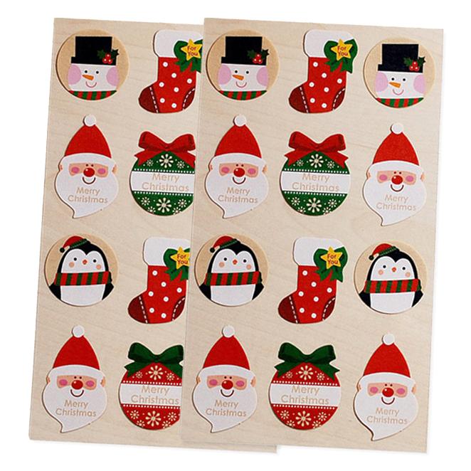 RB 크리스마스 백박산타 스티커 12p, 혼합 색상, 2개