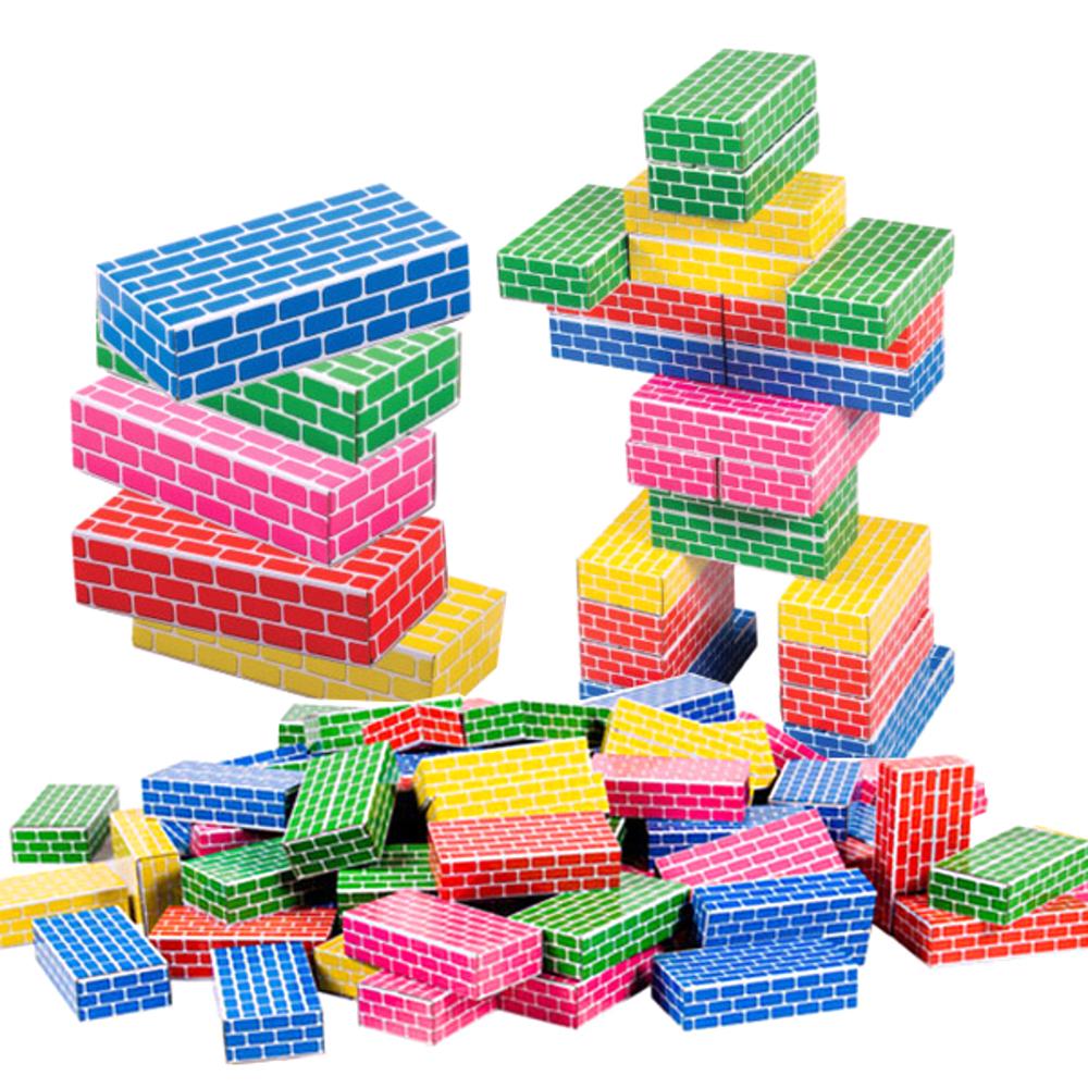 쿠쿠토이즈 종이벽돌 블록 50p, 혼합 색상
