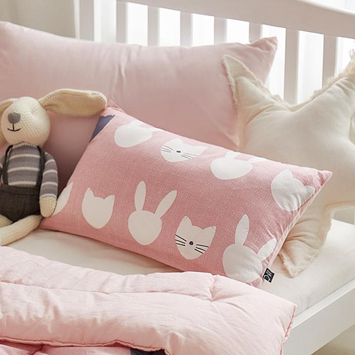 디그레이 러버 순면 베개, 미유 핑크
