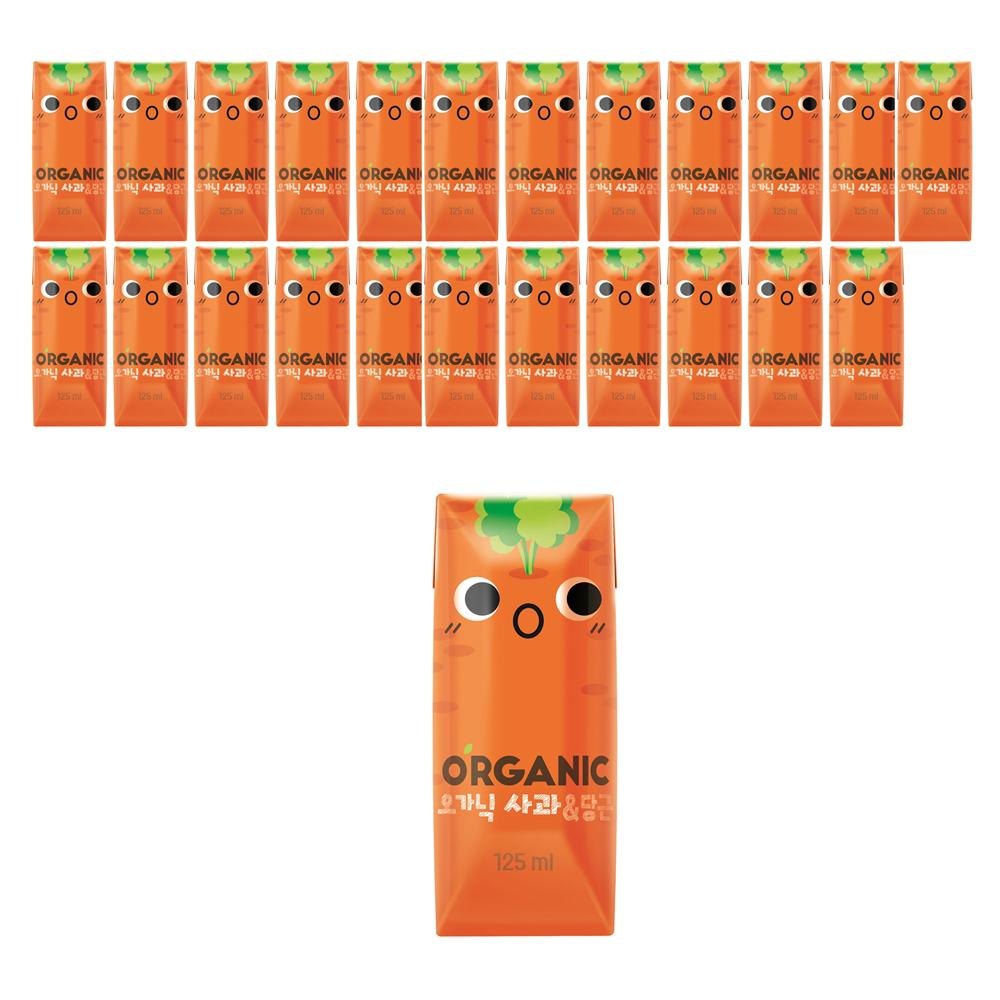 오가닉 사과 & 당근 주스, 125ml, 24개입