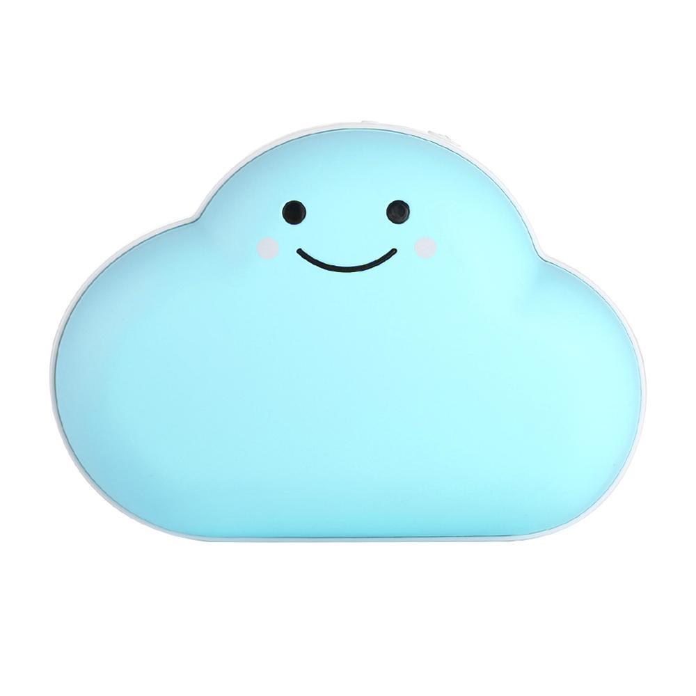 가우넷 구름 USB 충전식 양면 대용량 보조배터리 손난로, 단일 상품, 블루