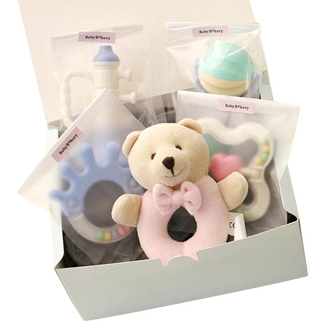 베이비베이커리 신생아용 곰돌이딸랑이와 친구들 출산선물세트