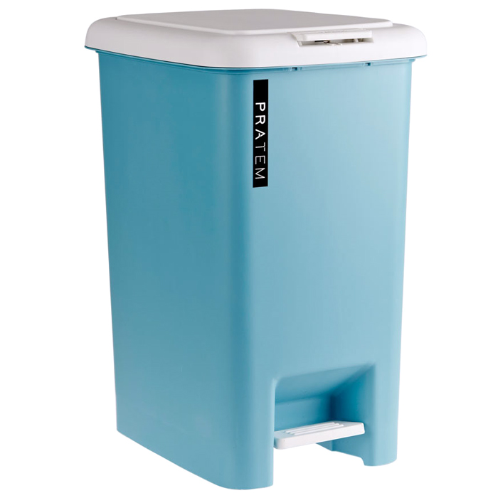 프라템 프리미엄 타워 휴지통 20L, 블루, 1개