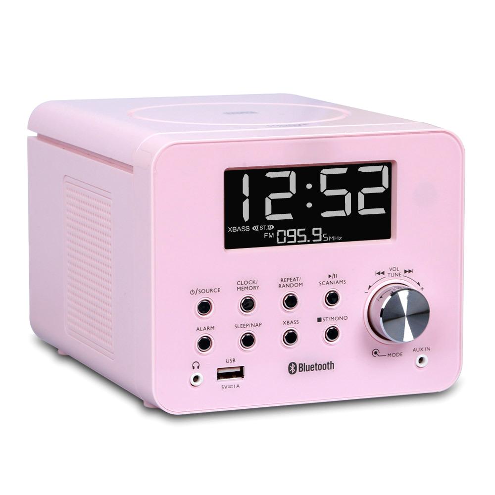 코비 큐브시디 올인원 블루투스 미니오디오, 단일 상품, 핑크