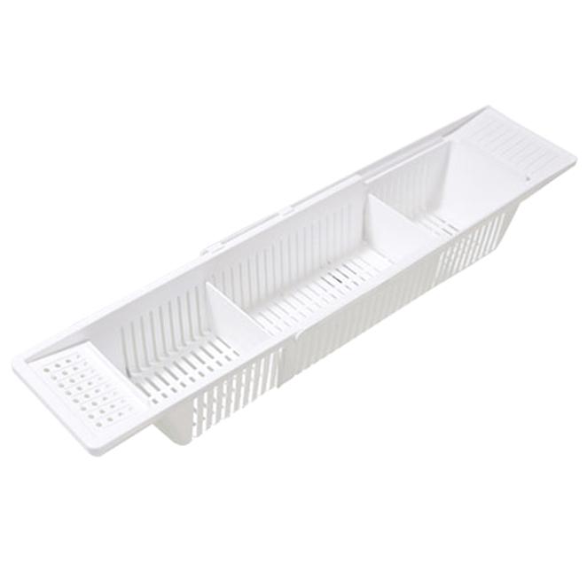 에이치포 아이리빙 길이조절 욕실 정리함, 화이트, 1개
