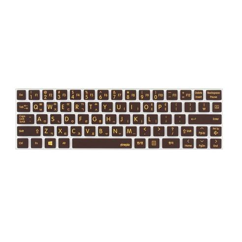 LG 멀티코팅 키스킨 파인피아 문자인쇄 LG 탭북 Tab Book 11TA740, 초콜렛