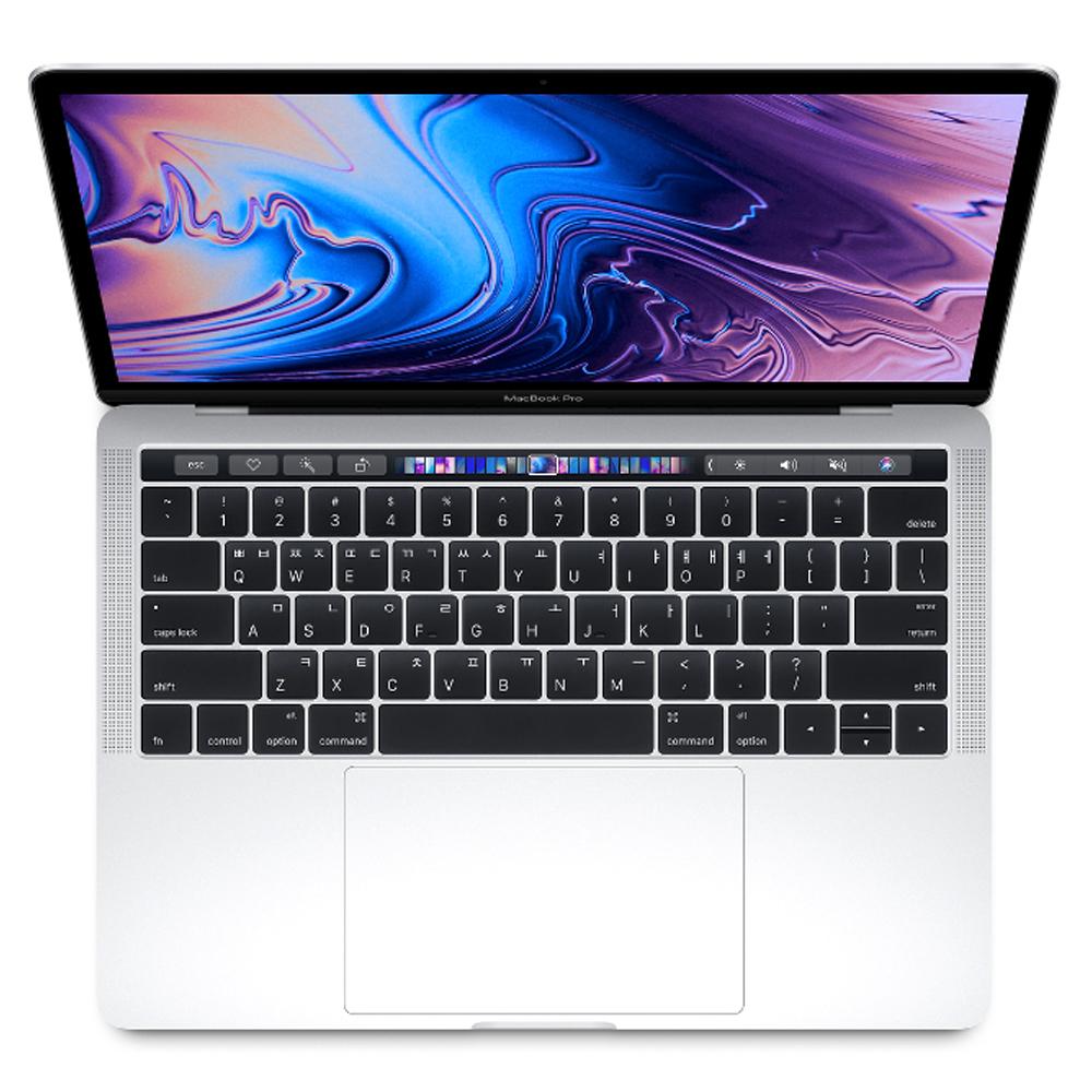 Apple 2018년 맥북 프로 터치바 13 8세대, 실버, i5-2.3GHz quad-core, SSD 512GB, Iris 655