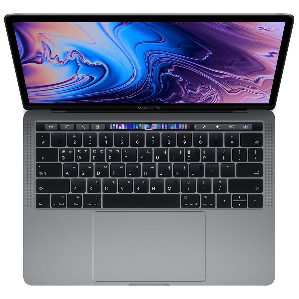 Apple 2018년 맥북 프로 터치바 13 8세대, 스페이스 그레이, i5-2.3GHz quad-core, SSD 512GB, Iris 655