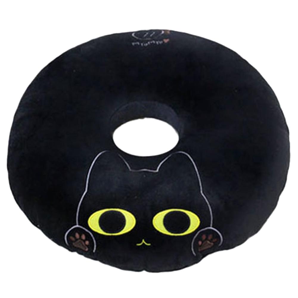 애니나라 헬로캣 도넛 방석 N, 묘묘(블랙)
