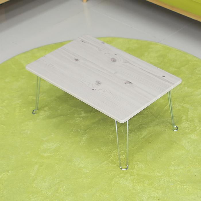 우드리빙 접이식 테이블 미니, 화이트워시