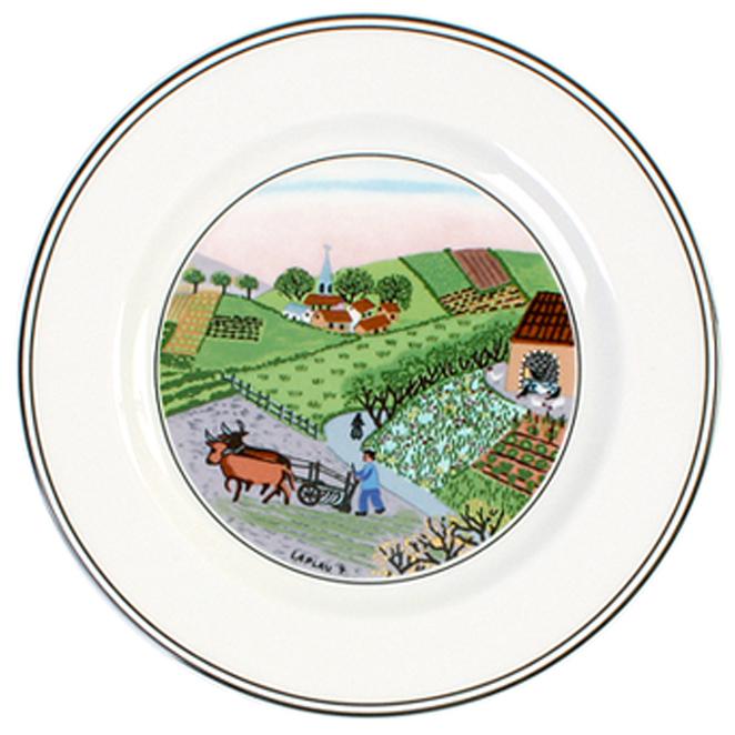 빌레로이앤보흐 디자인나이프 빵버터접시 17cm 밭농사