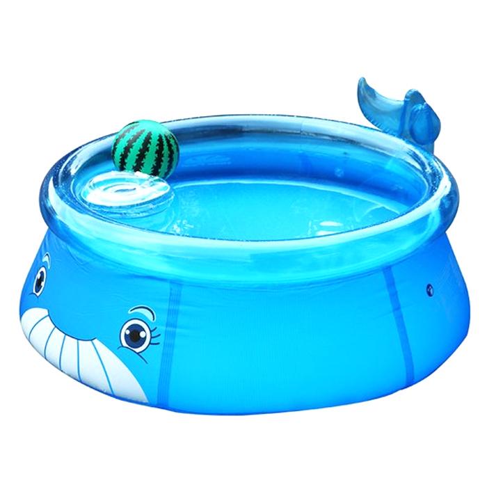 보물섬 아동용 고래풀 17399 풀장, 파란색, 1세트