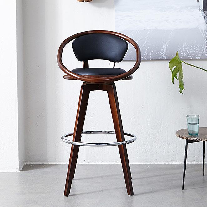 모디디 원목 스핀 바 의자, 202B