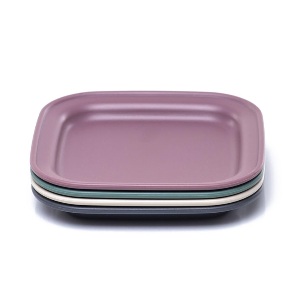 나인웨어 올디너리 사각접시 4p 세트, 1세트, 단품