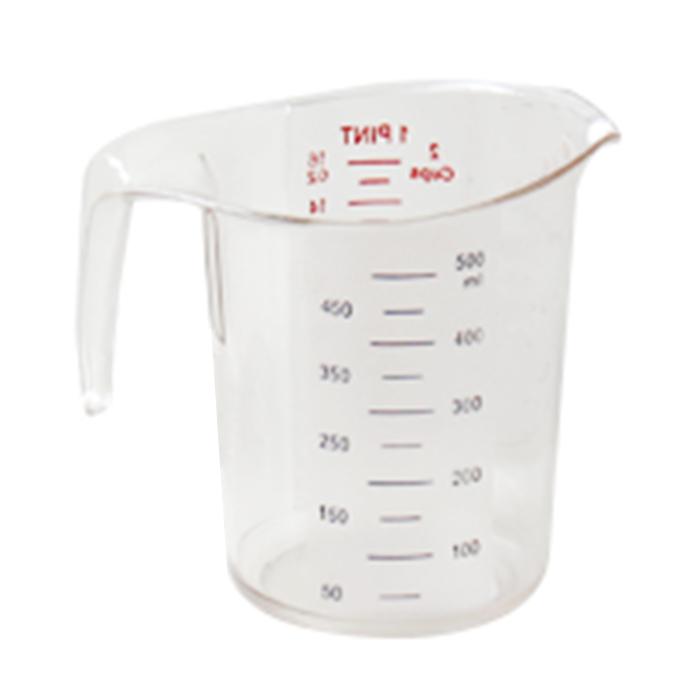 폴리카보네이트 투명 계량컵, 혼합 색상, 500ml