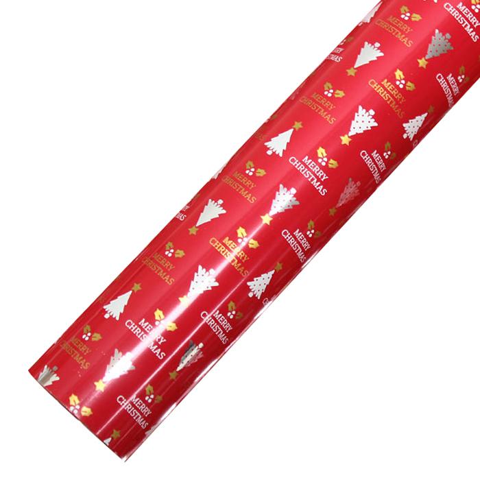 코코플러스 골드트리 크리스마스 비닐증착포장지, 레드, 1개