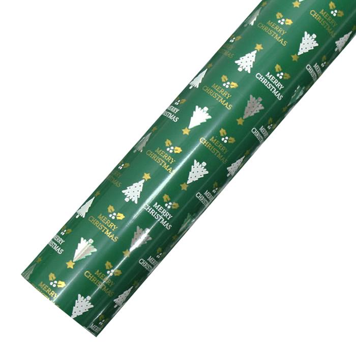 코코플러스 골드트리 크리스마스 비닐증착포장지, 그린, 1개