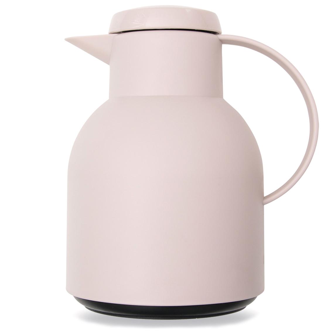 비스비바 돌체 버튼 보온 주전자, 1L, 핑크