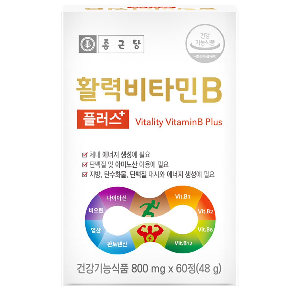 종근당 활력 비타민B 플러스, 60정, 1개