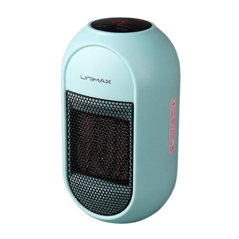 유니맥스 플러그인 전기 미니 온풍기, UMH-405BL, 블루