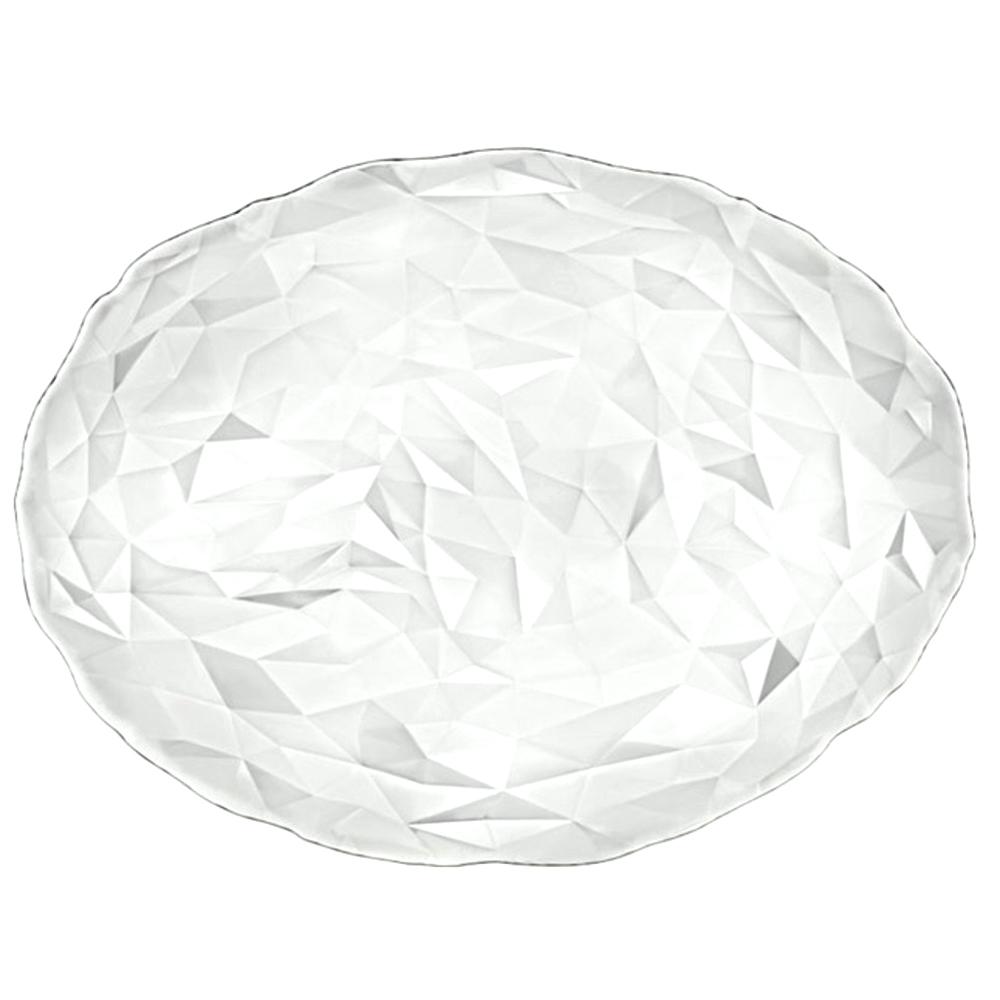 보르미올리 다이아몬드 타원 플레이트, 투명