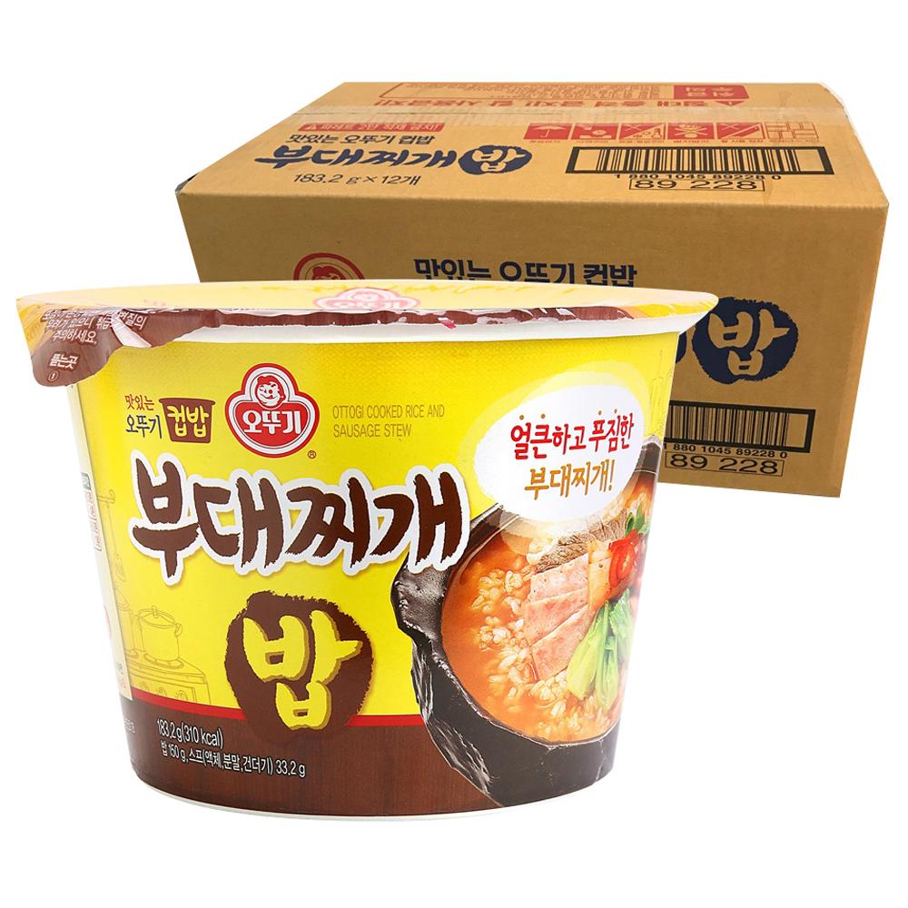 오뚜기 컵밥 부대찌개밥, 183.2g, 12개입